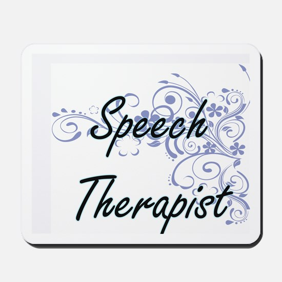 Speech Therapist Artistic Job Design wit Mousepad