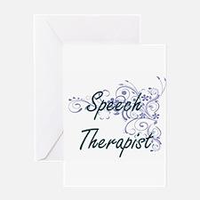 Speech Therapist Artistic Job Desig Greeting Cards