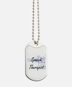 Speech Therapist Artistic Job Design with Dog Tags