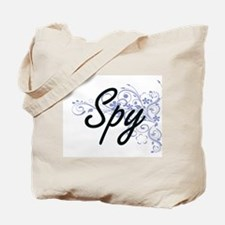Spy Artistic Job Design with Flowers Tote Bag