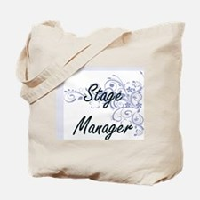 Stage Manager Artistic Job Design with Fl Tote Bag