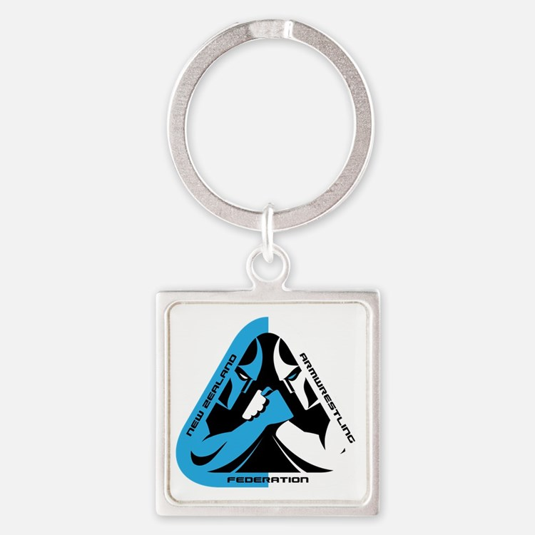 Cute Armwrestling Square Keychain