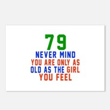 79 Never Mind Birthday Postcards (Package of 8)