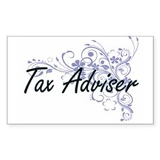Tax Adviser Artistic Job Design with Flowe Decal