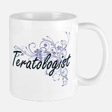 Teratologist Artistic Job Design with Flowers Mugs