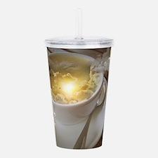 Cute Yellow cups Acrylic Double-wall Tumbler