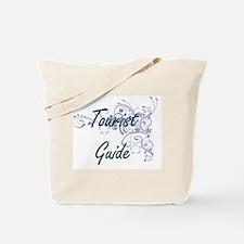 Tourist Guide Artistic Job Design with Fl Tote Bag