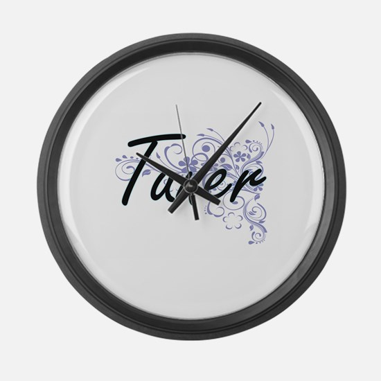 Tuner Artistic Job Design with Fl Large Wall Clock