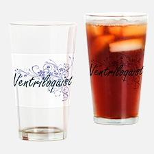 Ventriloquist Artistic Job Design w Drinking Glass