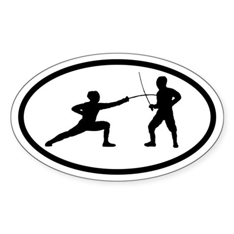 Fencers Oval Sticker