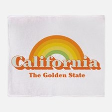 California vintage Throw Blanket