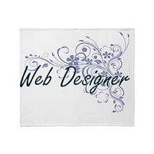 Web Designer Artistic Job Design wit Throw Blanket