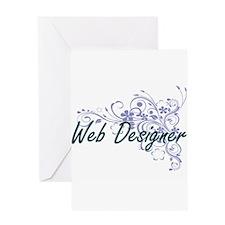 Web Designer Artistic Job Design wi Greeting Cards