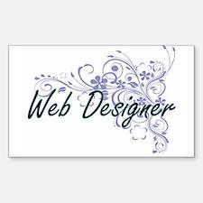 Web Designer Artistic Job Design with Flow Decal