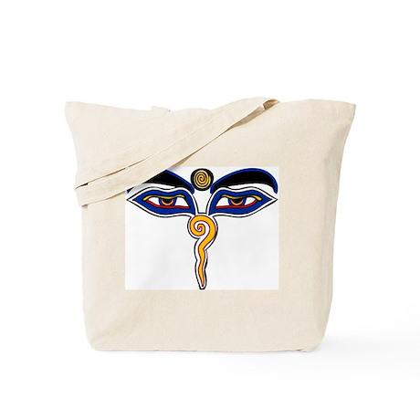 Buddha Eyes Tote Bag