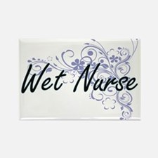 Wet Nurse Artistic Job Design with Flowers Magnets