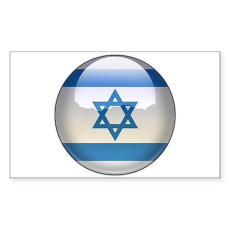 Israel Flag Jewel Rectangle Sticker