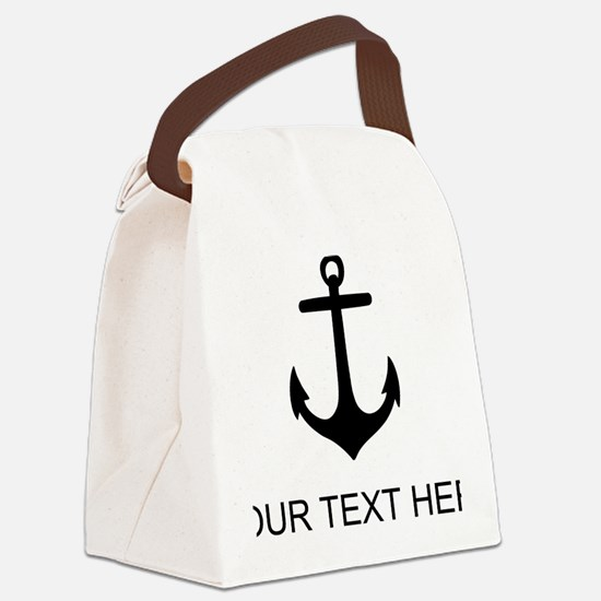 Ship Anchor Canvas Lunch Bag