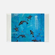 Dolphin Dreaming Magnets