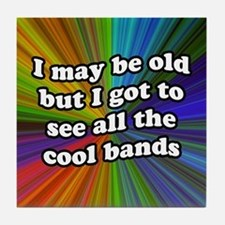 All the Cool Bands Tile Coaster