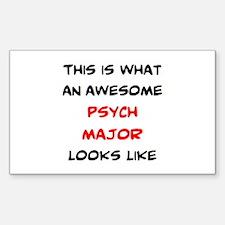 awesome psychology major Sticker (Rectangle)