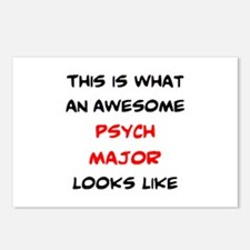 awesome psychology major Postcards (Package of 8)