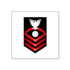 "Funny Senior chief petty officer Square Sticker 3"" x 3"""