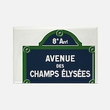 Avenue des Champs Elysees street sign Magnets