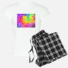 Colourful paint splatter pajamas