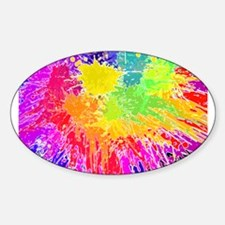 Colourful paint splatter Decal