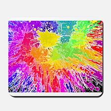 Colourful paint splatter Mousepad
