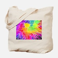 Colourful paint splatter Tote Bag