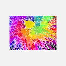 Colourful paint splatter 5'x7'Area Rug