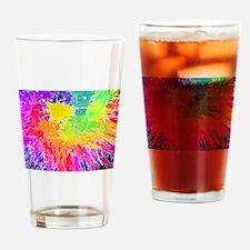 Colourful paint splatter Drinking Glass