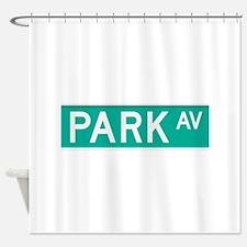 Park Avenue street sign Shower Curtain