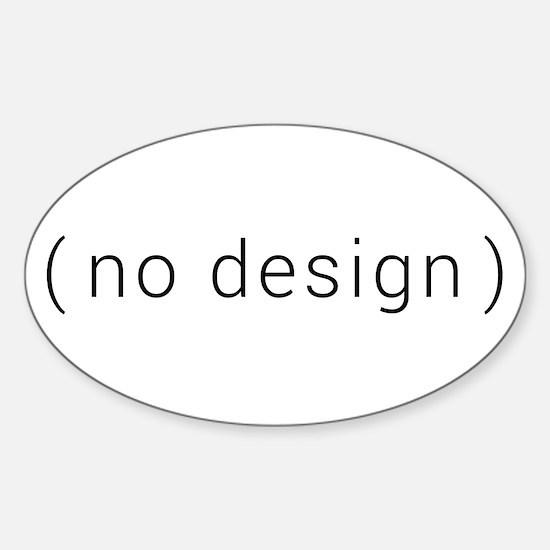 no design (black) Decal