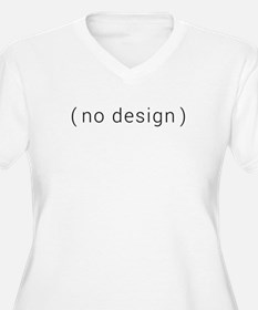 no design (black) Plus Size T-Shirt