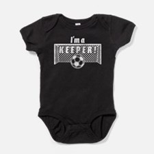 Im a Keeper soccer fancy white.png Baby Bodysuit