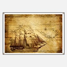 Old Ship Map Banner