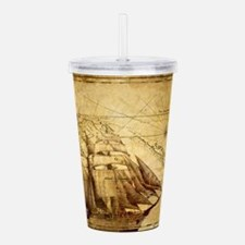 Old Ship Map Acrylic Double-wall Tumbler