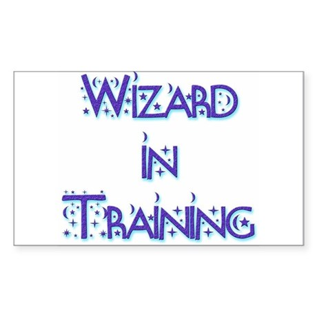 Wizard in Training 1 Rectangle Sticker