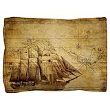 Old ship map Pillow Sham