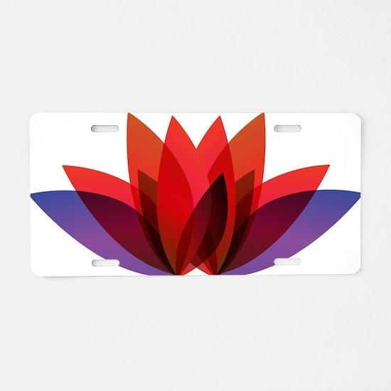 Lotus flower petals Aluminum License Plate