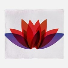 Lotus flower petals Throw Blanket
