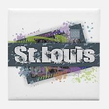 St. Louis Design Tile Coaster