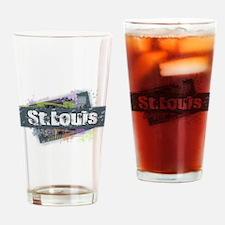 St. Louis Design Drinking Glass