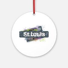 St. Louis Design Round Ornament