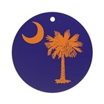 Orange and Purple SC Flag Ornament (Round)