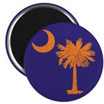 Orange and Purple SC Flag Magnet
