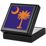 Orange and Purple SC Flag Keepsake Box